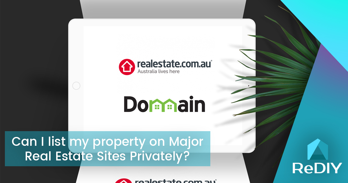 Can I list my property on Major Real Estate Site Privately?