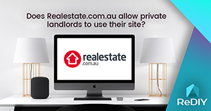 Does Realestate.com.au allow private landlords to use their site?