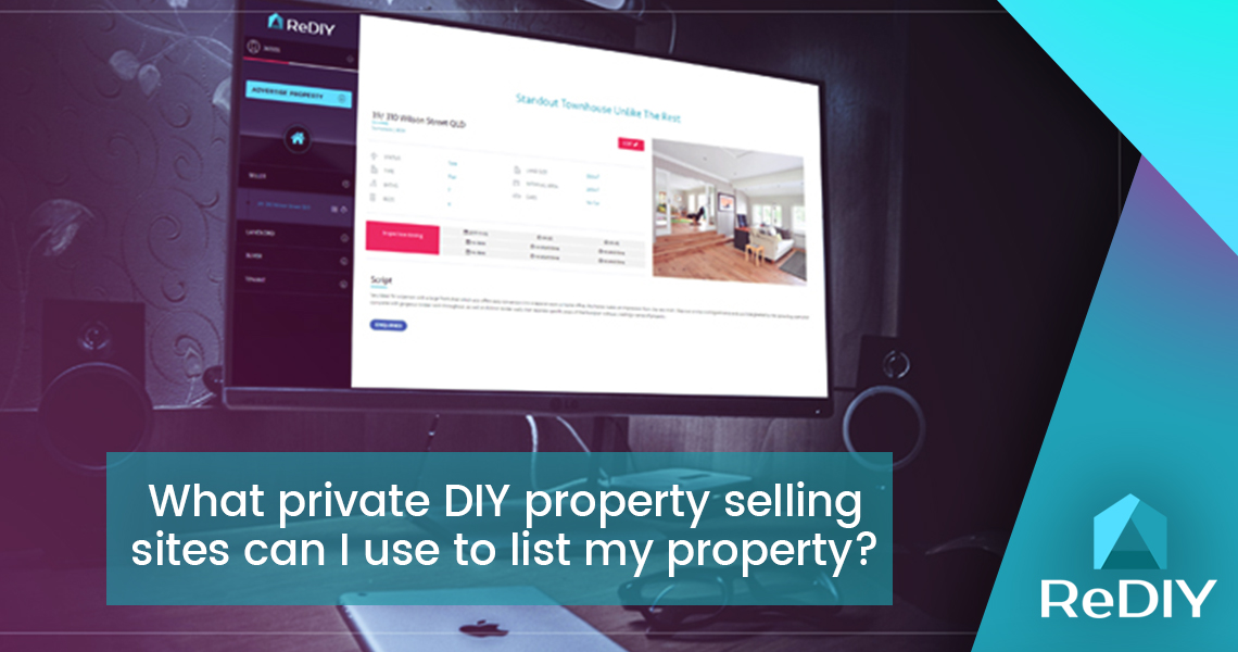 What private DIY property selling sites can I use to advertise my property?