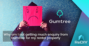 Why am I not getting much enquiry from Gumtree for my rental property